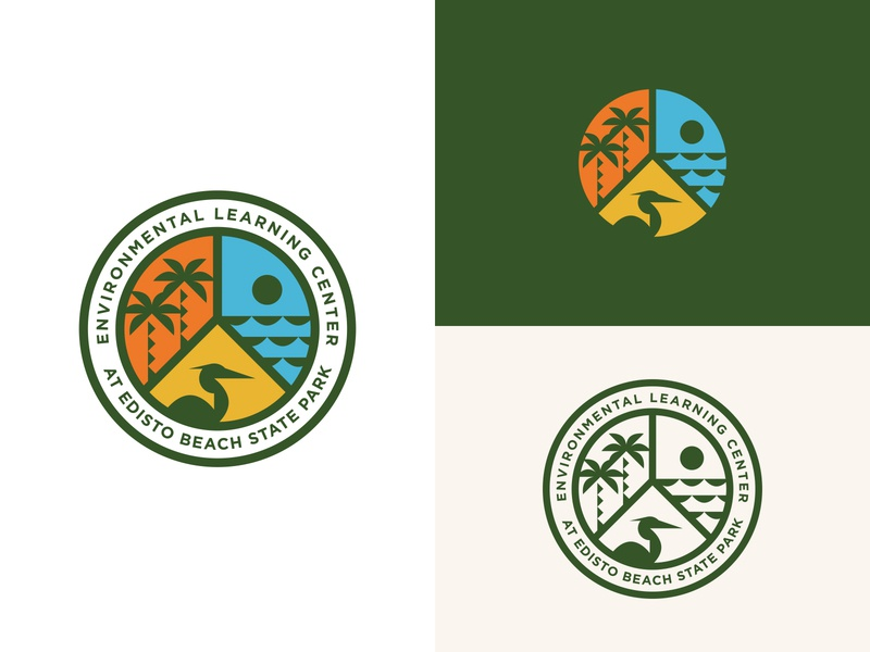 Environmental Learning Center logo design state park wildlife coastal coast icon design vector brand development identity logo branding type