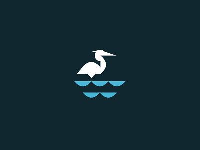 Great Blue Heron design vector style icon heron bird illustration