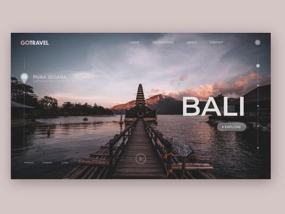 Landing Page for a Travel Agency branding webdeveloper ux ui design webdevelopment web web design webdesign landingpage