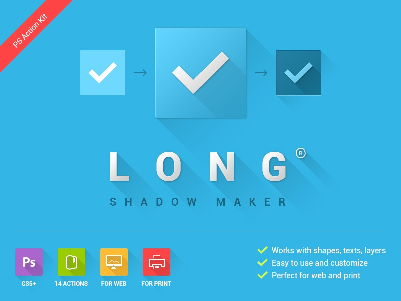 Long Shadow Maker Photoshop Action