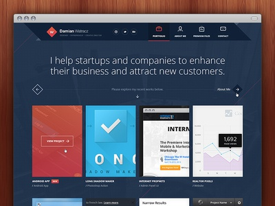 New Portfolio #1 — Home Page