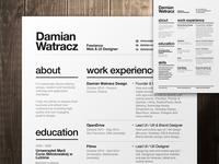Swiss Style Resume 2014