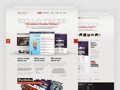 Portfolio 2011 website portfolio vintage noise red grey swiss slider crack themes button browser