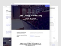 Less Doing, More Living — Home Page