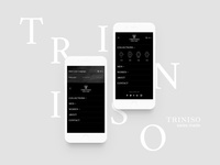 Triniso — Mobile Menu