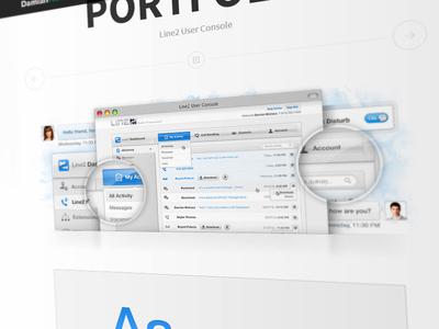 New Portfolio - Line2 User Console Project Page