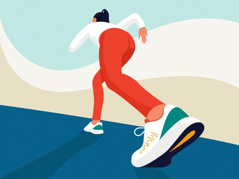 Start from here start-up sport woman girl run move startup start