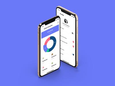 Finany-Money Manage Mobile App sketch ios kit template ui cashflow mobile ui financial app