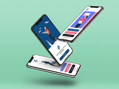Claka Walkthroughs Screen 01 template design kit ux ui app mobile walkthroughs claka