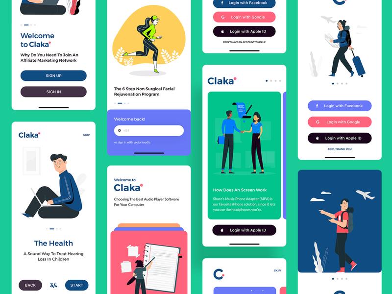 Claka Walkthough 03 minimal ios design mobile app template kit ui walkthroughs claka