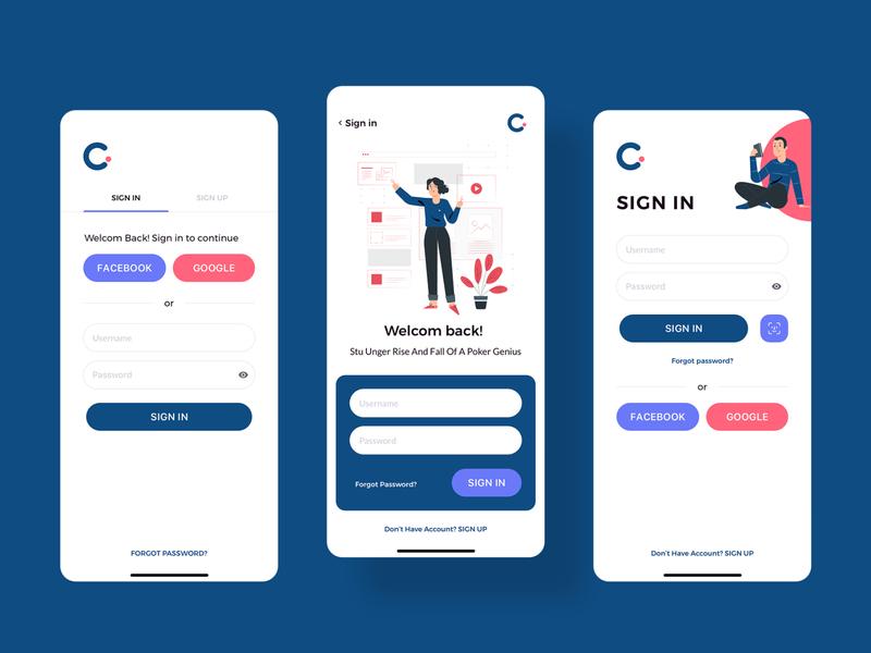 Claka SignIn kit template ios design mobile app ui signin claka