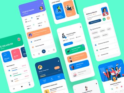 Claka Profile UI minimal ios design template kit ui profile app mobile claka