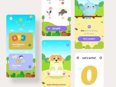 ABC Kids Learning ui design app mobile learning kid abc