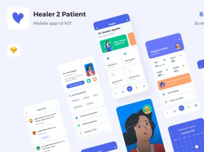 Product Card healer sketch minimal ios design mobile kit app template ui