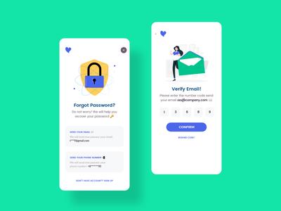 Healer Patient Forgot Password minimal ios mobile app uidesign doctor app patient app healer