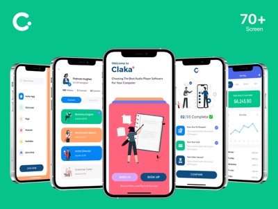 Claka UI KIT illustration claka minimal ios design mobile app kit template ui