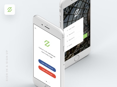 Zade UI KIT -  Sign In & Sign Up