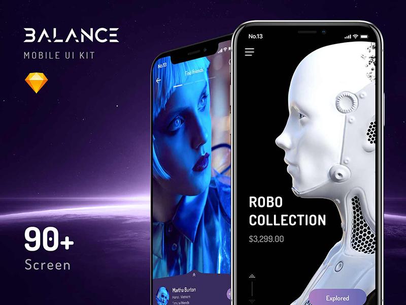 Balance UI KIT sketch iphonex design template kit ui app mobile balance