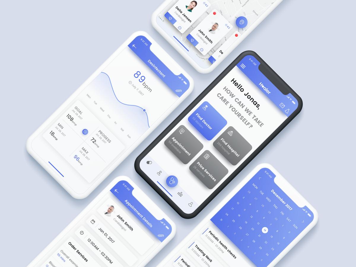 Healer Template App react native mobile iphonex design kit ui app template healer