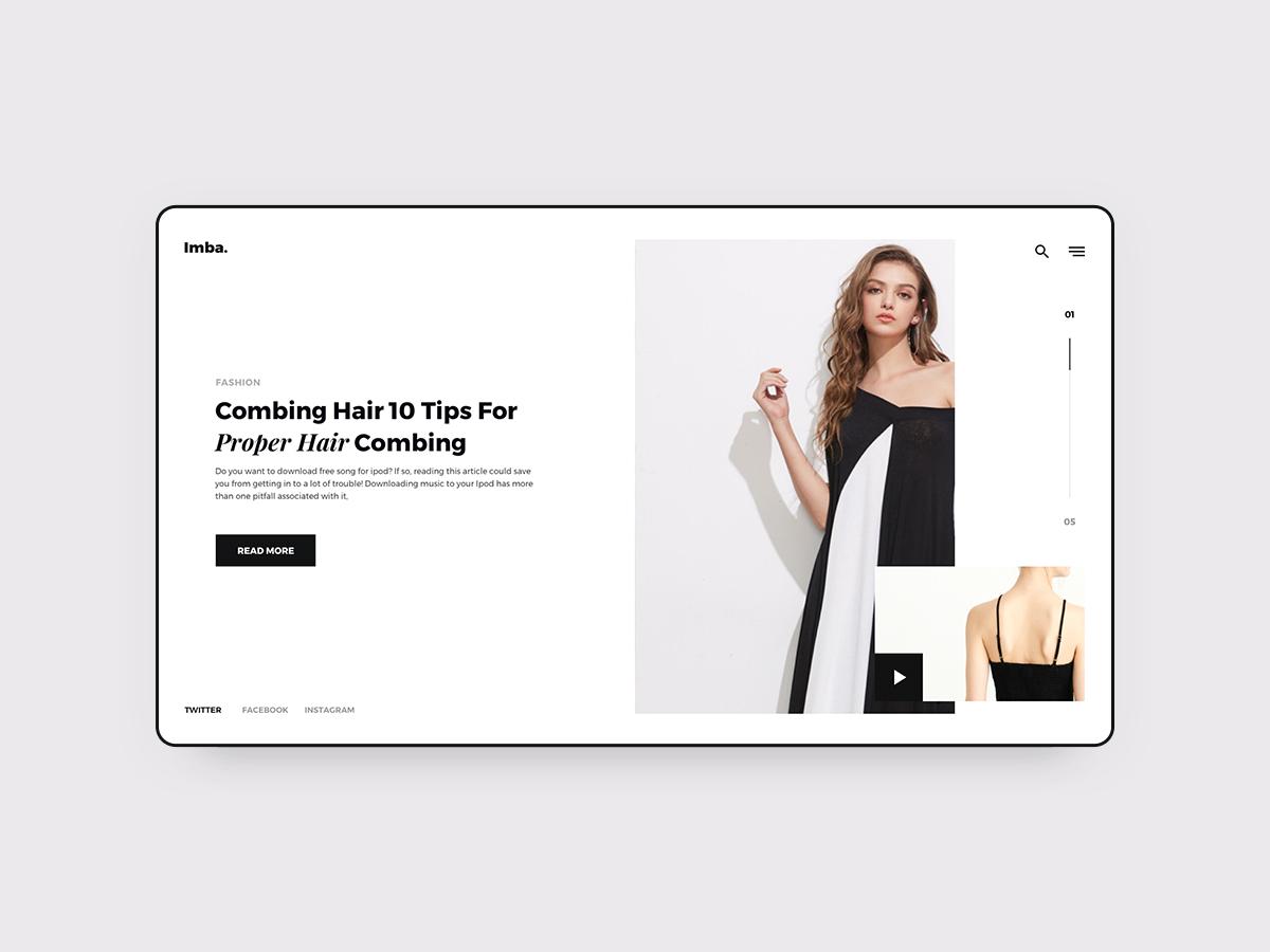 Imba-Ecommerce Web 01 ui template web minimal kit ios imba ecommerce design app
