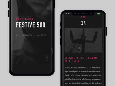 Festive 500 Mobile website travel responsive rapha personal landing page festive500 cycling bike