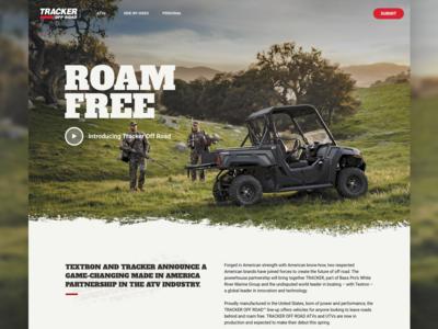 Tracker Off Road Website Iteration