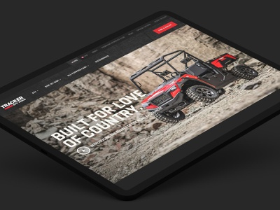Tracker Off Road Portfolio foundation product atv portfolio landing page web design responsive website ui ux