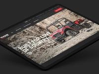 Tracker Off Road Portfolio foundation product atv portfolio landing page web design responsive website ui ux