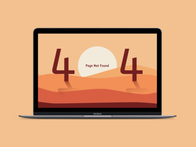 404 Not Found - Dessert Illustration