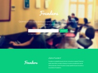 Founders landing page