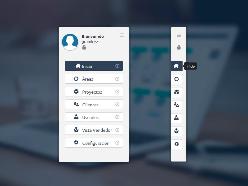 Slide Menu slide menu navigation buttons lima peru tooltip interface ui ux