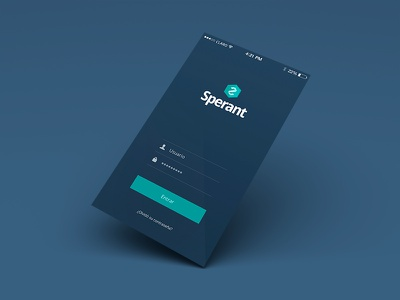 Sperant Mobile mobile ui lima peru sperant crm ios7 login