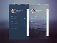 Sperant mobile sidebar concepts