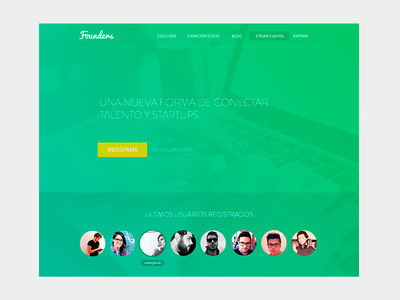 Founders - New Landing [WIP] landing green founders flat responsive peru lima startup