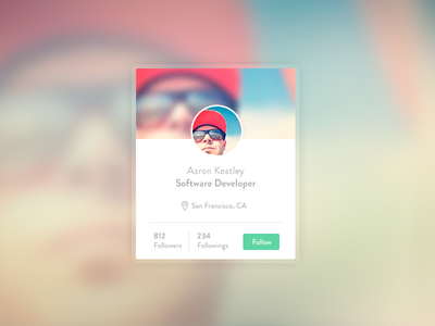 Widget User - Founders App founders flat lima peru startup gradient widget profile avatar