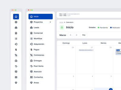 CRM Dashboard [Preview] product design productdesign navigation design nav navigation menu user interface ux icons menubar menu drm design crm navigation navigation bar dashboard ui dashboard