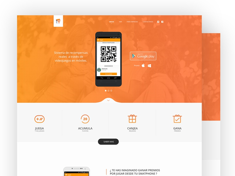 Tegalo Landing Page Redesign [WIP] redesign landing page flat ui ux design mobile android background