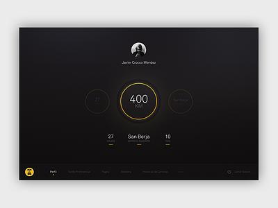 Easy Taxi - Conceptual Design profile blur peru lima ux ui visual design design app taxi easytaxi