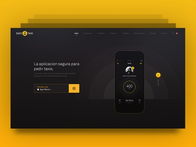 Easy Taxi - Landing Page blur peru lima ux ui visual design design app taxi easytaxi