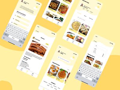 MasakPedia App uiuxdesign ui  ux ui application app design app mobile app design mobile app mobile ui food app ux design uiux uidesign