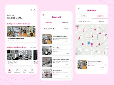 Finding Salon Mobile App Design beauty salon salon app uidesign mobile ui ui uiuxdesign mobile app design mobile app app design app