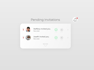 Pending Invitation decline accept pending invitation pending invitation product design web app minimal ux xd adobe xd ui design dailyui