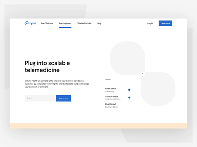 Enzyme On Demand Landing Page storytelling scroll animation health care interaction design landing page healthcare web design web ux user interface ui scroll motion design motion interaction company website branding 2d animation 3d animation animation