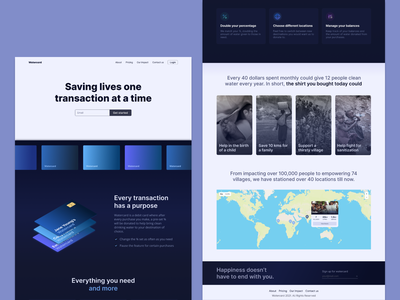 Watercard - Landing Page ux  ui website landing page