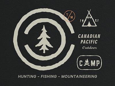 Canadian Pacific Outdoor outdoor outdoorapparel design vntage illustration vintage logo hand drawn design branding badge logo