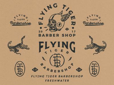 Branding Designs for Flying Tiger Barbershop