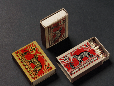 Matchbox matchbox illustration vintage vector typography logo hand drawn design branding badge logo