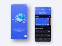 Bank App - Graphic Design Concept dashborad transactions bank app banking bank dark ui dark mode mobile app design ux mobile app app design appdesign app uidesign uiux uiuxdesign ui
