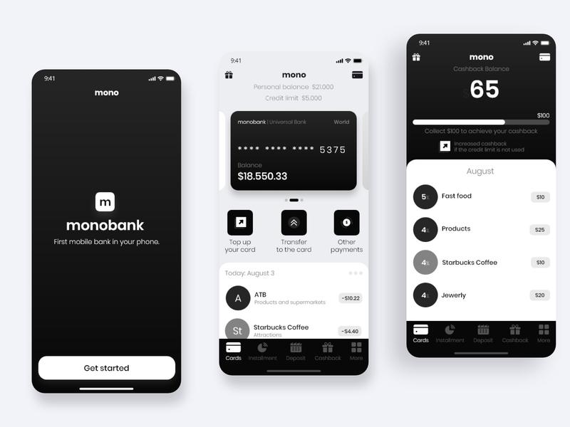 Monobank mobile app - Redesign welcome screen money banking app darak theme mobile apps monobank bank apple mobile app design mobile app branding logo design app ux app design uidesign uiux uiuxdesign ui