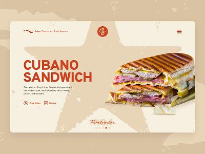 Cubano sandwich page design ui web landing page sandwich cuba gastronomy comfort food food star warm weeklywarmup ps
